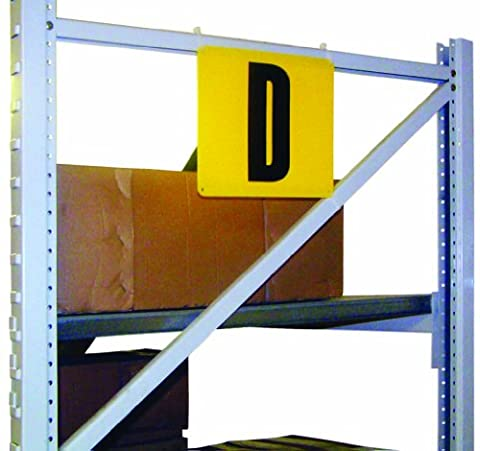 Yellow Styrene Aisle & Bay I.D. Marker - 660 (High) x 343mm (Wide) - Supplied with one customised printed character (Choose from A-Z & 0-9)