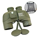 USCAMEL®10X50 HD Military Binoculars with Ranging, Compass Multifunction, Suitable for Bird watching, Hunting