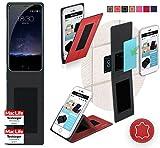 reboon Hülle für Meizu Pro 5 Tasche Cover Case Bumper   Rot Leder   Testsieger