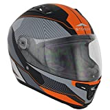 Stealth F117neón Full Face Casco de Moto, Naranja Fluorescente