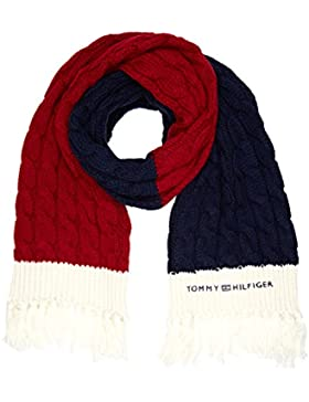 Tommy Hilfiger Damen Schal Chunky Cable Scarf, Mehrfarbig (Corporate Clrs 901), One size (Herstellergröße: OS)