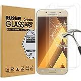 [2 Pack] Samsung Galaxy A3 Protection d'écran, Rusee Samsung Galaxy A3 (2017)Protecteur d'écran Film en verre trempé Film Vitre [Haute Définition] [Sans bulle] [9H Dureté] Pour Samsung Galaxy A3 (2017)