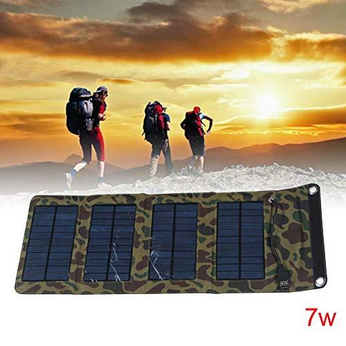 EBILUN Faltende Solar Power Ladegerät Panel Tasche USB Ausgang für Powerbank Camouflage 7W