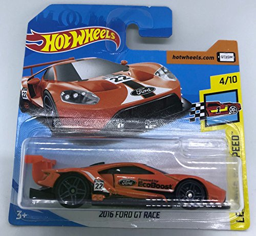 Hot Wheels 2018 2016 Ford GT Race Orange 4/10 Legends of Speed 71/365 (Short Card)