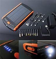 Batterie Externe Portable 23000 mAh avec Chargeur Solaire - Noir
