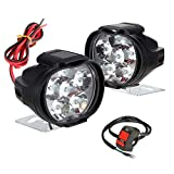 AllExtreme EX6F1S2 Imported 6 LED Fog Light Waterproof Pod Driving Spot Head Lamp