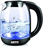 Magna Homewares Glass Electric Kettle for Tea and Hot Water, 2 Liter Large