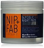 Nip + Fab Glycolic Fix Night Pads Extreme- Trattamento di affinare i pori, illuminare la carnagione e decongestionare la pelle, 80 ml, 1 pz.