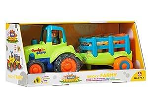 Tracteur avec remorque, fermier et animaux inclus télécommande, tracteur voiture de jouet, tracteur télécommandé, Véhicule Radio Commande, Voitures et télécommande