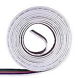KaBenjee 5-polig SMD5050 RGBW Flex LED-Streifen Eckverbinder/Steckverbinder/Kreuzverbinder/20m Flachband -Verlängerungskabel/Kompatibel mit OSRAM oder ALED(RGBW LED-Bandlicht verlängerung Verbinder)