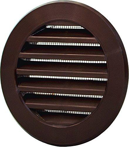 VM125 144/mm Haco Grille da/ération//aspiration ronde en plastique/avec bride//raccordement tuyau et moustiquaire dimensions