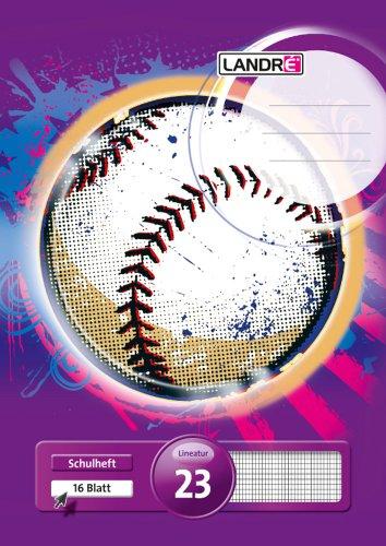 Preisvergleich Produktbild LANDRE‰ 100050037 Schulheft | 10er Pack | A4 | 16 Blatt | Lineatur 23 - rautiert | 3 Motive sortiert