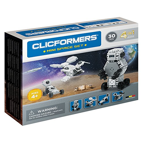 Clicformers Mini Space Set 4 in 1 Vehicles 30 PCS Building and Construction Toy