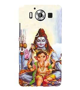 Fiobs Designer Back Case Cover for Microsoft Lumia 950 :: Nokia Lumia 950 (Ganpati Ganesha Shiv Shiva Shankar )