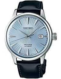 Seiko Herren-Armbanduhr Analog Automatik One Size, blau, schwarz