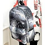 HuaYang Nouveau Motif de Galaxy sac à dos cartable pour les étudiants(Noir)