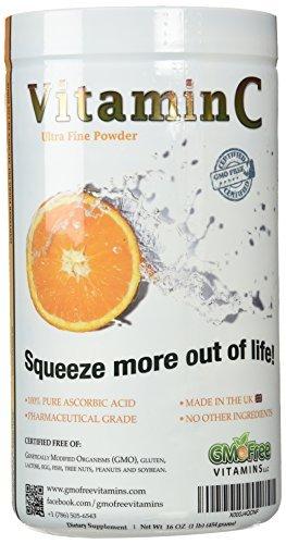 Vitamine C, poudre ultra-fine, Acide Ascorbique, Non OGM, Fabriqué au Royaume-Uni, Quali-C, 454g