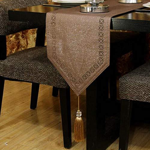 LCPG Einfache und stilvolle Couchtisch-Tischflagge Couchtisch-Matte Hotelstoff TV-Schrank Zubehör (Farbe : Licht Kaffee Farbe, größe : 33 * 240CM) -