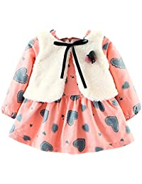 Baby Girls Clothes,Toddler Baby Girls Boys Long Sleeve Fleece Vest Dress Jacket Coat Top