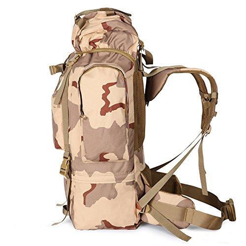 GOUQIN Outdoor Rucksack Klassische Mode Große Kapazität Klettern Taschen Outdoor Rucksacktour Reiten Wandern Schultertasche Grün