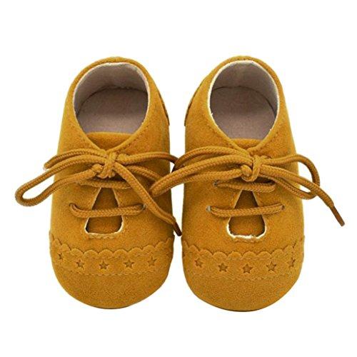 Harpily Zapatos De Bebé, niño niña Zapatillas de bebé Antideslizante de Encaje hasta Zapatos 0-18...