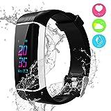 YOUNGDO Fitness-Tracker, Aktivitätstracker Smart-Armband mit GPS, 24 Sportmodi, Herzfrequenz-Monitor, Schrittzähler, Schlaf-Monitor, Kalorienzähler, wasserdicht IP67 Fitness-Uhr für Android/iOS