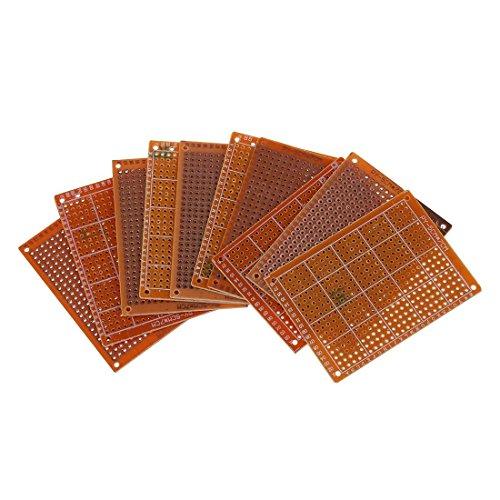 SODIAL(R) Clasico 10pzs PCB prototipo terminado soldadura para placa de circuito Tablero de circuitos BI4U
