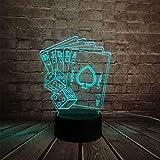 Hlfymx Kreativer 3D Led Usb-ZaubererTexas Hold Em Würfel Poker Pik Spielkarte 7 Farben Rc NachtWeihnachten Ändern
