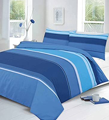 Carter Linear Stripe Luxury Duvet Quilt Cover Set With Pillow Cases All Size - cheap UK light store.