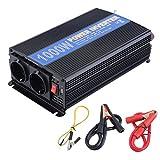 Hehilark Spannungswandler Ladegerät 1000 2000W Kfz-Wechselrichter Inverter Stromwandler DC 12 V auf AC 220-230 mit USB-Anschlus (1000W)