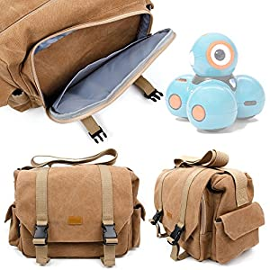 51ZDZkeU1TL. SS300  - DURAGADGET Mochila Resistente Al Agua + Funda Impermeable Para Robots educativos Dash y Dot - Wonder Workshop