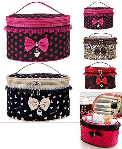 takestop® Beauty Case Bow Storage Tasche Makeup Schleife Make Up Kosmetiktasche Tasche Beutel Kit Reise Organizer Fantasie Farbe zufällig