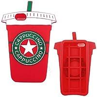 Generica - Funda 3D Iphone 6 Plus y 6S Plus Vaso de Batido o Cafe Capuccino Rojo