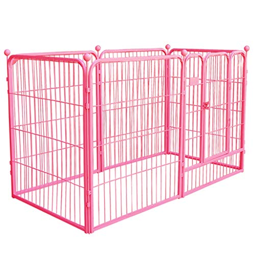 Laufgitter laufstall Tragbarer Hunde-Laufstall für schwere Aufgaben, extra großes Metallhaustierzaun-Haus mit Tür, Indoor Outdoor, 6 Panel (größe : 160×80×90cm)