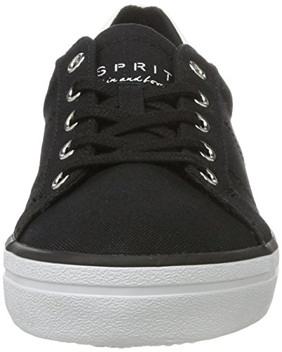 ESPRIT Damen Mindy Lace Up Sneakers Schwarz (001 Black)
