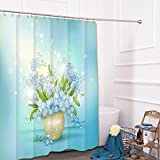 liuhoueCreative shower vorhang Waterproof gepolstert Polyester-material Bad vorhang-A 180cm*180cm