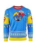 Superman Maglione di Natale 'Bad Guys Get Coal' Unisex - 4XL