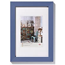 Walther Grado Wooden Picture Frame, Wood, blue, 11.75 x 15.75 inch-30 x 40 cm