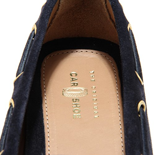6335L mocassini donna blu CAR SHOE scamosciato scarpe loafers shoes women Blu