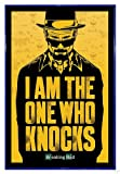 Close Up Breaking Bad Poster I am The one who Knocks (94x63,5 cm) gerahmt in: Rahmen blau