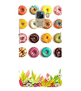 Doughnuts 3D Hard Polycarbonate Designer Back Case Cover for Huawei Honor 7 :: Huawei Honor 7 Enhanced Edition :: Huawei Honor 7 Dual SIM