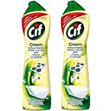 Cif Multi Purpose Cleaner with Cream and Micro Crystals Lemon, 500 ml - Pack of 2
