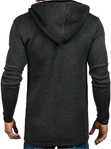 BOLF – Sweat-shirt á capuche – Manches longues – Hoodie – Motif – Homme [1A1] Anthracite