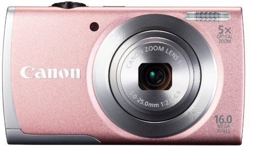 Canon PowerShot A2600 Point & Shoot (pink)