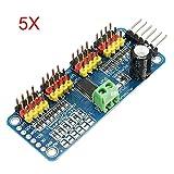 Ils - 5 Stücke PCA9685 16-Kanal 12-Bit PWM Servomotor Treiber I2C Modul für Arduino Roboter