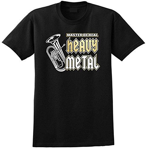 Euphonium Master Heavy Metal - Black Schwarz T Shirt Größe 92cm 39in Medium MusicaliTee -