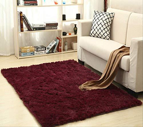 Alfombra de lana de seda suave, alfombra moderna de interior, alfombras sedosas, alfombrilla de dormitorio...