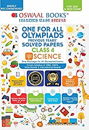 Oswaal Olympiad Previous 10 Years' Solved Papers, Class-4 Science Book (For 2021 Exam)