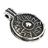 Asgard Amuleto de Protección - Escudo de la Buena Suerte - Colgante Vikingo con Runas