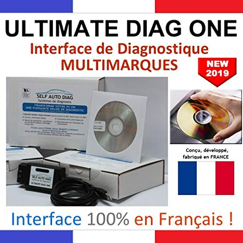 ULTIMATE DIAG ONE - Interface de diagnostic MULTIMARQUES – Version CD-ROM - Valise diagnostique auto multimarque en francais de SELF AUTO DIAG